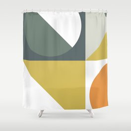 Mid Century Geometric 01 Shower Curtain
