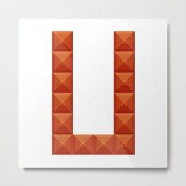 "Letter ""U"" print in beautiful design Fashion Modern Style Metal Print"