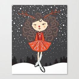 'Rudolf the Reel Deer' Lil Dancer Canvas Print