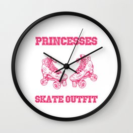 Real Princesses Inline Skater Roller Skates Gift Wall Clock