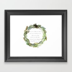 Magnolia Wreath Framed Art Print