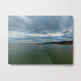 Provincetown harbor in the spring Metal Print