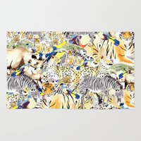 safari Area & Throw Rugs featuring Safari by Katie Rose Johnston