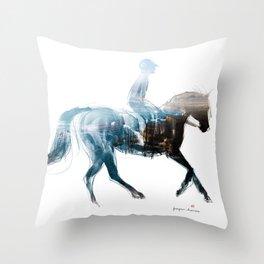 Horse (Canter on the beach) Throw Pillow