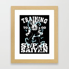 Training to go super saiyan Framed Art Print