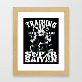 Training to go super saiyan Framed Art Print