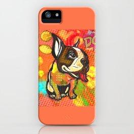 Dog pop art iPhone Case