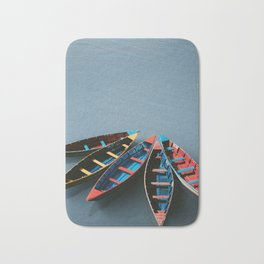 Boats on the water Bath Mat