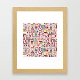 Proud To Be A Nurse pattern in pink Framed Art Print