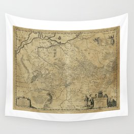 Map of Ukraine (1648) Wall Tapestry