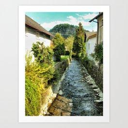 Light on a River, Salzburg Art Print