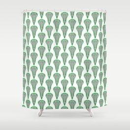 Girls'/Women's Lacrosse Sticks - Green Shower Curtain
