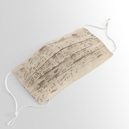 Old Music Notes - Bach Music Sheet Face Mask