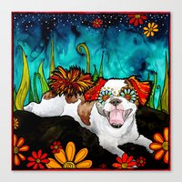 shih tzu Canvas Prints featuring Shih Tzu by RobiniArt