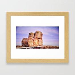 Summer Hay Framed Art Print