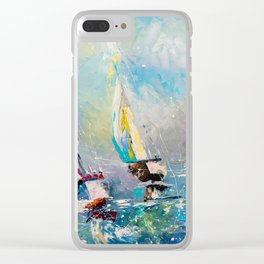 FOLLOW THE WIND Clear iPhone Case