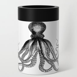Octopus | Black and White Can Cooler