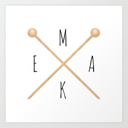 MAKE  |  Knitting Needles Art Print