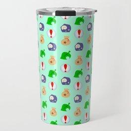 Animal Crossing Icons Travel Mug