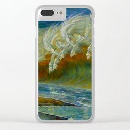 "Walter Crane ""Neptune's Horses, 1893"" Clear iPhone Case"