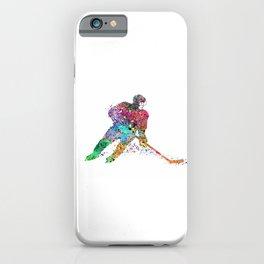 Girl Ice Hockey Sports Art iPhone Case