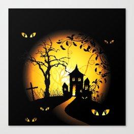 Halloween Castle Nightmare Canvas Print