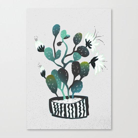 Noir Cactus Canvas Print