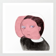 Pink Face Art Print