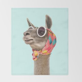 FASHION LAMA Throw Blanket
