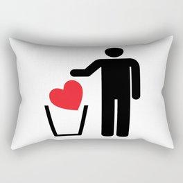 Heart Trash Bin Rectangular Pillow