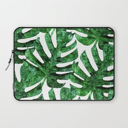 Monstera Pattern V3 Oil Painting #home #fashion Laptop Sleeve