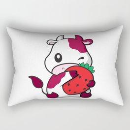 Strawberry Cow  Rectangular Pillow