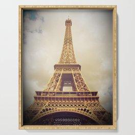 Eiffel Tower in Paris Serving Tray