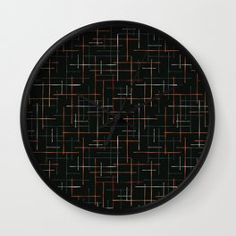Abstract Criss Cross Lines Seamless Wall Clock