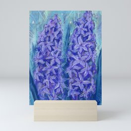 Hyacinths, blue and violet Mini Art Print