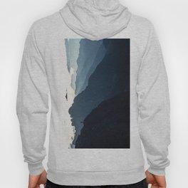 Hiker on mountain range Hoody