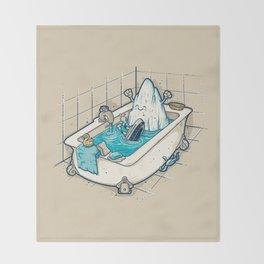 BATH TIME Throw Blanket