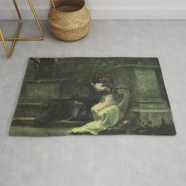 Classical masterpiece: The Kiss by Lionello Balestrieri Rug