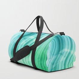 Ocean Blue And Green Mermaid  Marble Duffle Bag