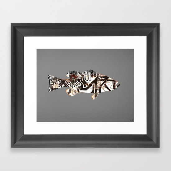 Digital Fish 2 Framed Art Print