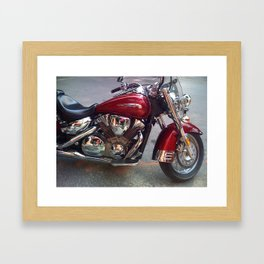 Reflections on a Red Bike Framed Art Print