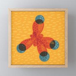 Orange Methane Molecule Framed Mini Art Print