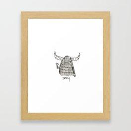 Jonesy Monster Framed Art Print