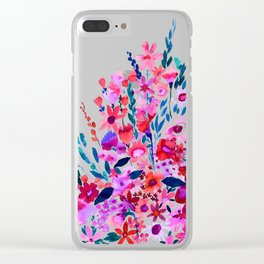 Scarlett Floral Clear iPhone Case