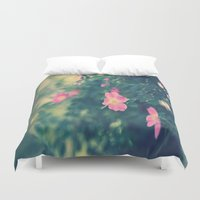 central park Duvet Covers featuring Central Park Roses by The Dreamery
