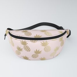Pink & Gold Pineapples Pattern Fanny Pack