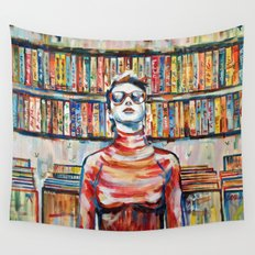 Vhs Vinilos Revisited Wall Tapestry