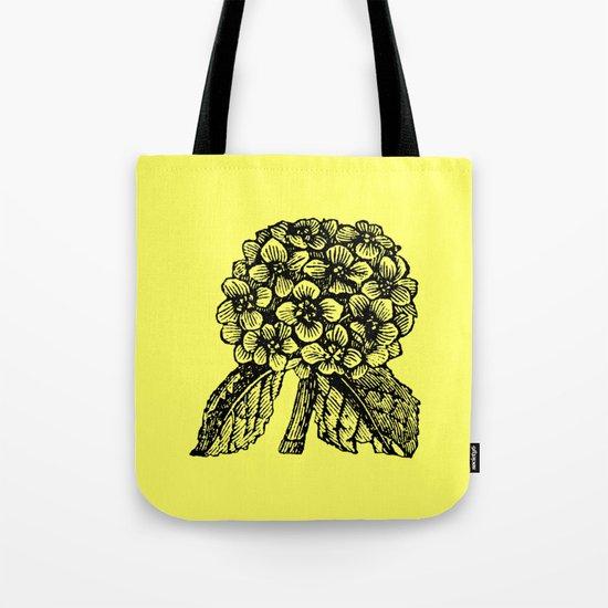 Yellow Hydrangea Tote Bag