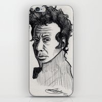 tom waits iPhone & iPod Skins featuring TOM WAITS by Simone Bellenoit : Art & Illustration