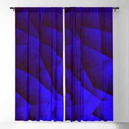 Dark contrasting blue fragments of crystals on triangles of irregular shape. Blackout Curtain